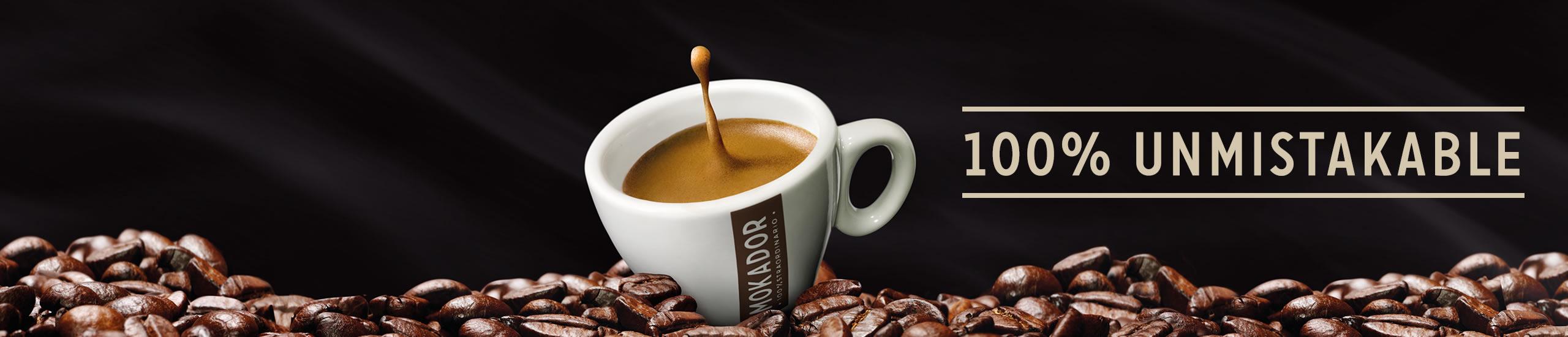 Fundada como torrefacção e com 50 anos, a prestigiada marca Mokador produz café italiano da mais alta qualidade. Com café em grão, em cápsulas e em pastilhas para três tipos de clientes: Escritório, Casa e Hotelaria.